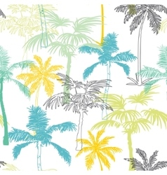 Palm trees california grey blue yellow vector