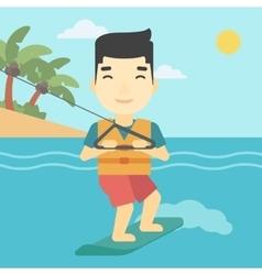 Professional wakeboard sportsman vector