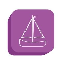 Sail boat icon design vector