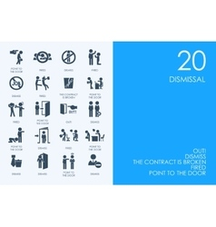 Set of blue hamster library dismissal icons vector