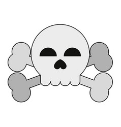 skull and bones symbol vector image