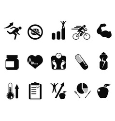 Sport performance icons set vector