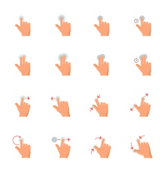 Touch Gestures Icons vector image vector image