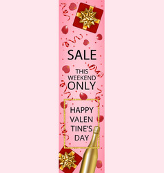 web banner for valentines day sale vector image
