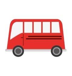 Single bus icon vector