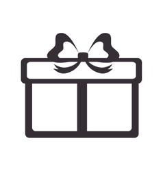 Gift box present silhouette vector