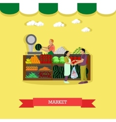 Market greengrocery design vector