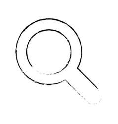 Magnifying glass lupe vector