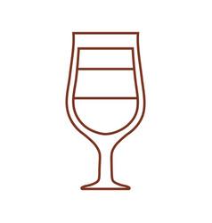 Glass cup coffee drink liquor vector