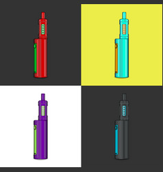 Juicy vape icons vector