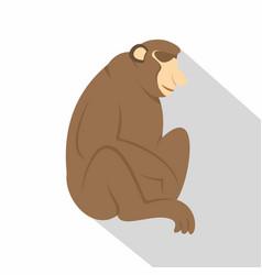 orangutan monkey icon flat style vector image