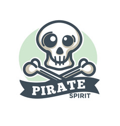 Pirate icon of skull and crossed bones vector