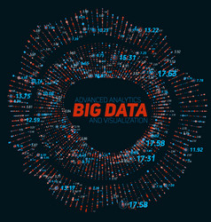 Big data circular visualization vector