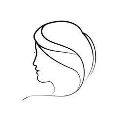 women head silhouette vector image