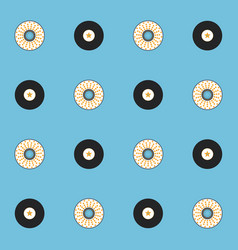 Records and cds seamless pattern vector