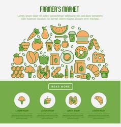 Farmers market concept vector