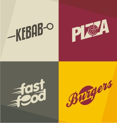 Fast food logos vector image