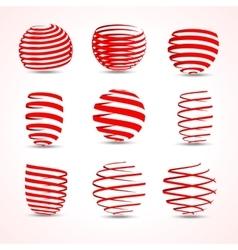 3d vortex twirl arrow ribbons set for your vector