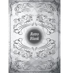 Vintage ornament on grunge background for design vector