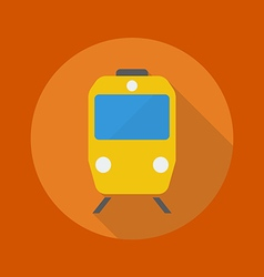 Travel flat icon train vector