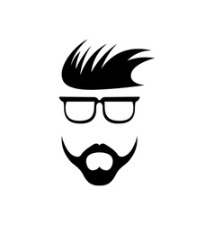 Abstract hipster guy retro design template vector