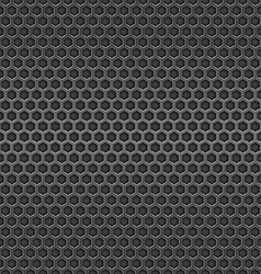 Dark metal cell seamless background vector image