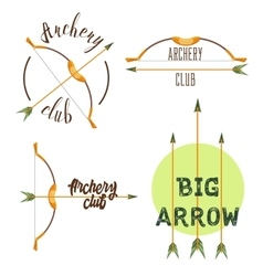 Archery club logo set vector
