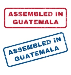 Assembled in guatemala rubber stamps vector