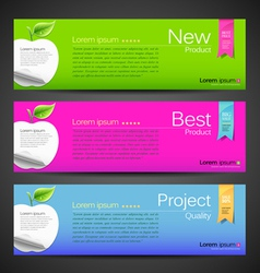 Banner design apple vector image vector image