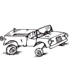 Broken car vector