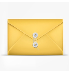 Brown envelope with white rope vector image