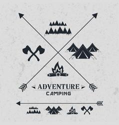 Camping vintage emblemlogotype template vector