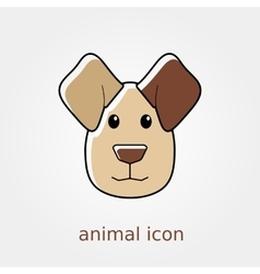 Dog icon Farm animal vector image