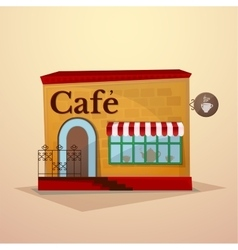 Facade cafe vector image