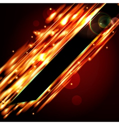 Fiery background with free space for your text vector image