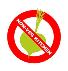 Forbidding character no ban or stop signs kitchen vector