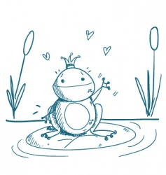 frog drawing vector image