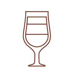 Glass cup coffee drink liquor vector