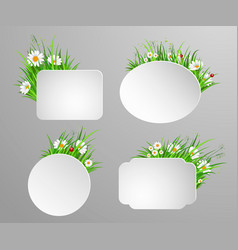 green grass frame with copy space vector image vector image
