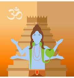 Hindu flat icon vector