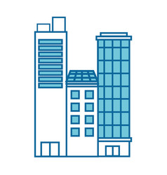 Isolated city buildings vector