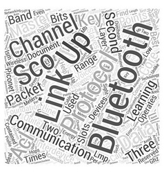Key learning points of bluetooth word cloud vector