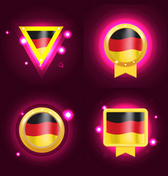 made in germany banner flag color label vector image vector image