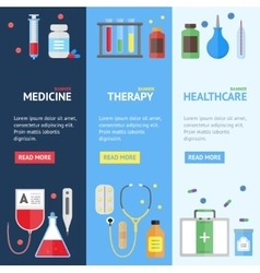 Medical service banner set vector
