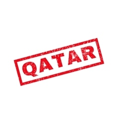 Qatar rubber stamp vector