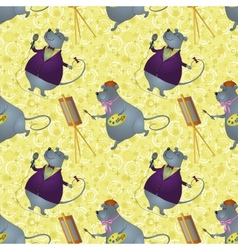 Seamless background rats artist and singer vector
