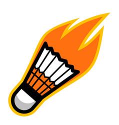 sport ball fire badminton vector image