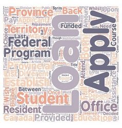 Student loans text background wordcloud concept vector