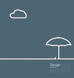Umbrella protection it weather the concept of vector
