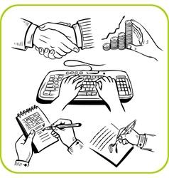 work hands set vector image vector image